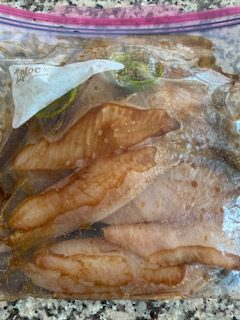 Honey Soy Tilapia marinading